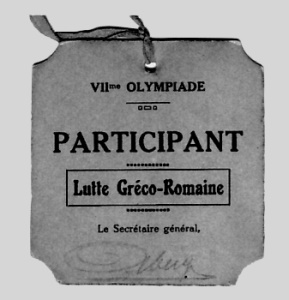 olympic games badge 1920