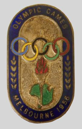 olympic games 1956 Melbourne badge