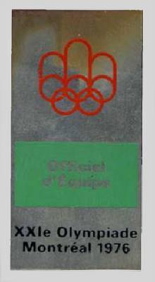 olympic games 1976 montreal badge