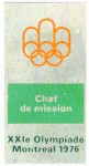 badge olympic games 1976 Montreal