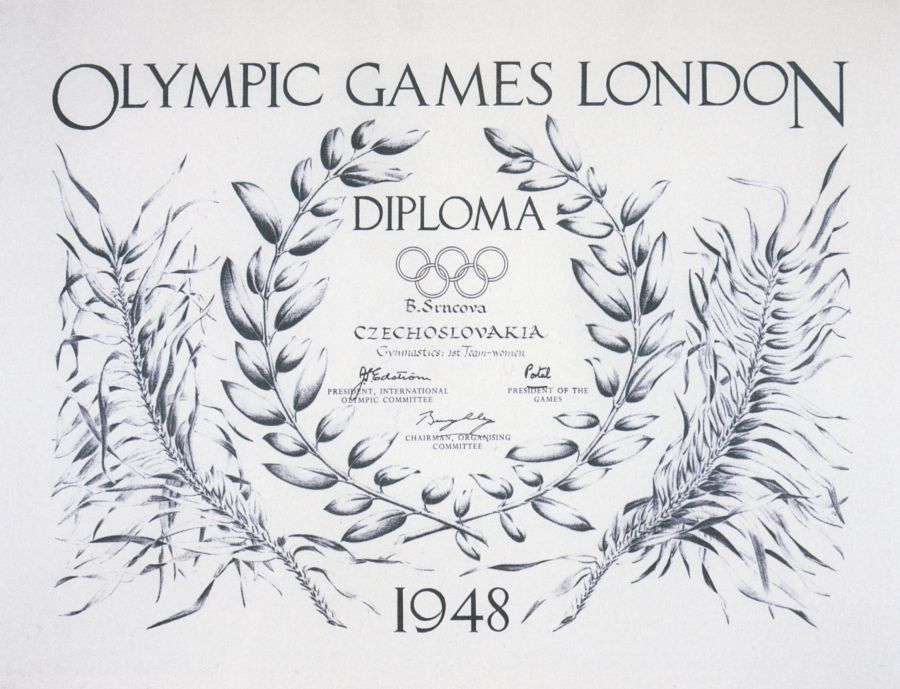 diploma olympic games 1948 london