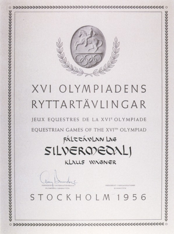 diploma olympic games 1956 stockholm