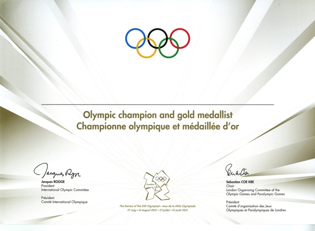 Diploma Olympic Games 2012 London