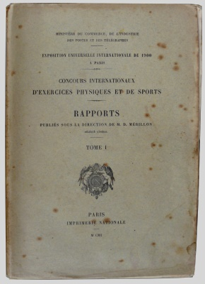 official report olympic games 1900 Paris