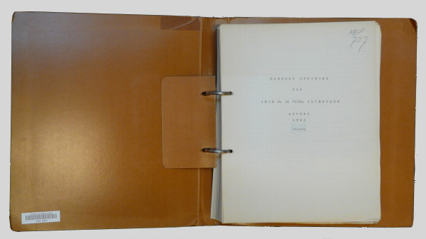official report olympic games 1920 antwerp