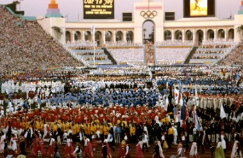 olympic games 1984 Los Angeles opening ceremony