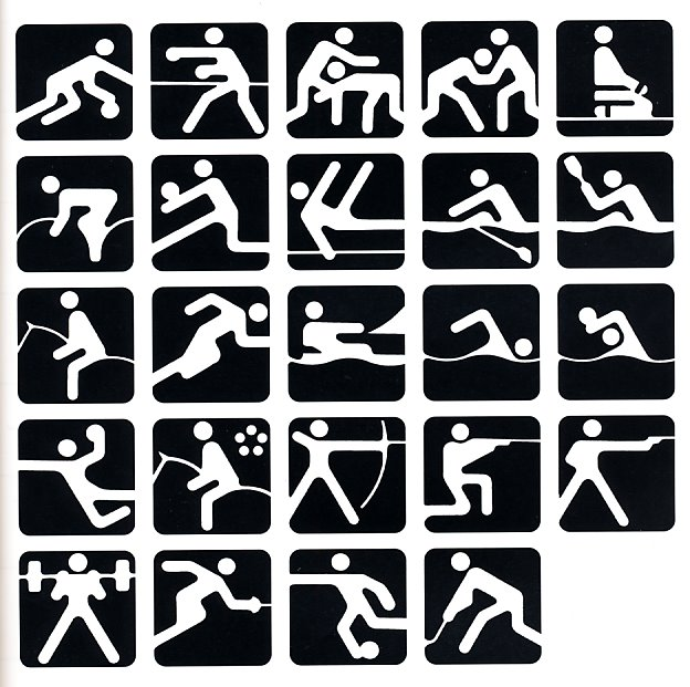 pictograms olympic games 1980 Moscow