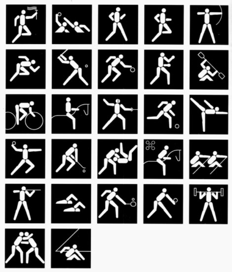 olympic games pictograms 1984 los angeles