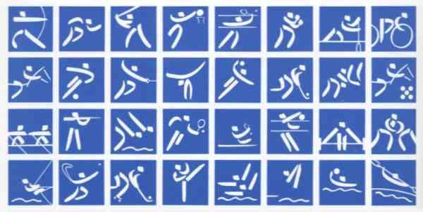 olympic games pictograms barcelona