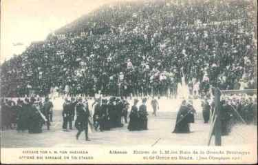 picture postcard olympic games 1906 Athens