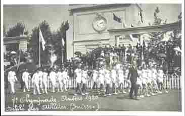 picture postcard olympic games 1920 antwerp