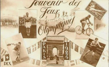 picture postcard olympic games 1924 paris
