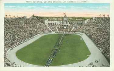 picture postcard olympic games 1932 Los Angeles