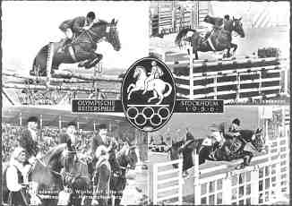 picture postcard olympic games 1956 stockholm