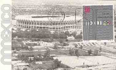 picture postcard olympic games 1968 Mexico City