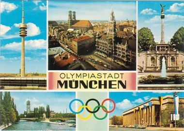 picture postcard olympic games 1972 Munich