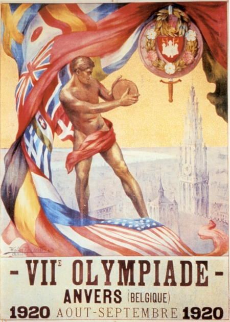 poster olympic games 1920 antwerp