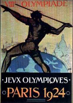 poster olympic games 1924 paris