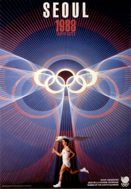 poster olympic games 1988 seoul