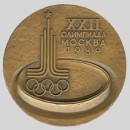 olympic games  participation medal 1980 Moscow