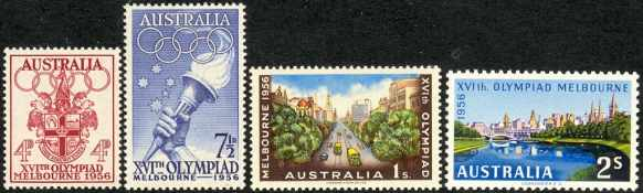 olympic games postage stamps 1956 melbourne