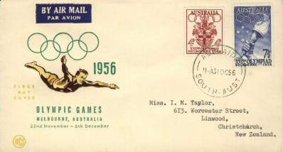olympic games 1956 melbourne postage stamps