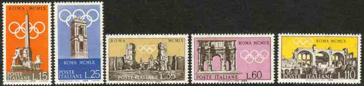 postage stamps olympic games 1960 rome