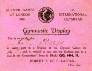 ticket olympic games 1908 london