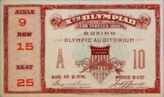olympic games ticket 1932