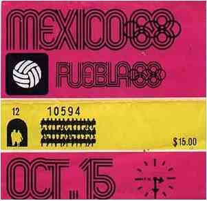 ticket olympic games 1968
