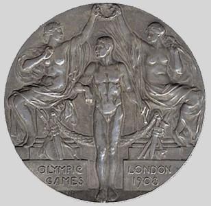 Olympic games winner medal 1908
