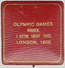 winner medal case olympic games 1908 London