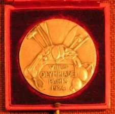 winner medal olympic games 1924 paris