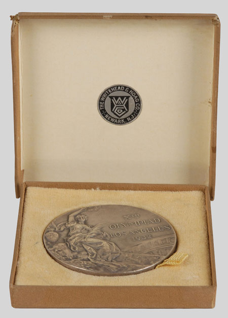 Olympic winner medal 1932 in its case